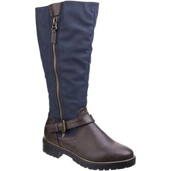 Chaussures Femme Bottes ville Divaz  Marron / bleu