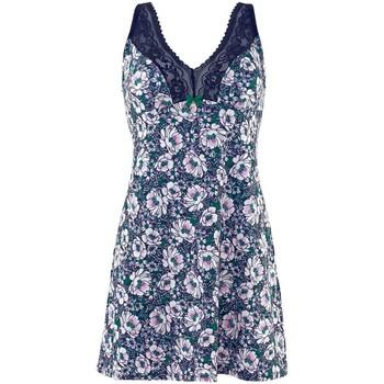 Vêtements Femme Pyjamas / Chemises de nuit Pommpoire Nuisette indigo/vert Pas De Deux Bleu
