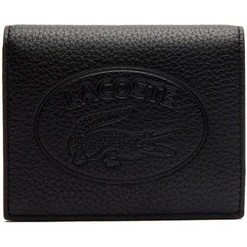 Sacs Femme Porte-monnaie Lacoste Porte-monnaie  femme en cuir ref_48302 000 11.5*18*1 noir