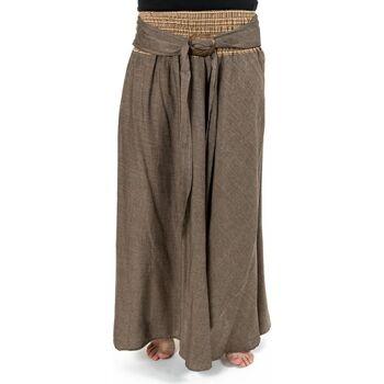Vêtements Femme Jupes Fantazia Jupe ethnique longue ceinture elastique et boucle coco Narival Marron