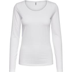 Vêtements Femme T-shirts manches longues Only 15204712 Blanc