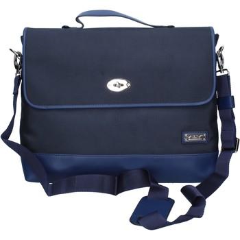 Sacs Femme Besaces Alviero Martini ALV bleu textile cuir BP997 Bleu