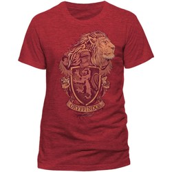Vêtements T-shirts manches courtes Harry Potter  Rouge