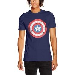 Vêtements T-shirts manches courtes Captain America  Bleu