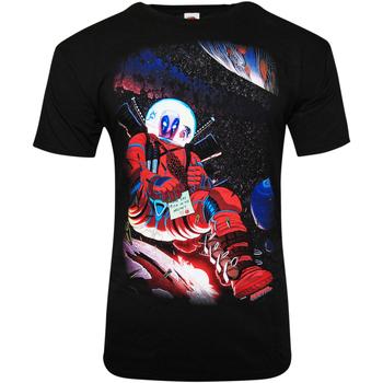 Vêtements T-shirts manches courtes Deadpool  Noir