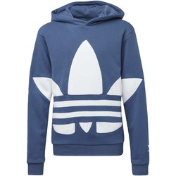 Vêtements Enfant Pulls adidas Originals Sweat-shirt à capuche Big Trefoil bleu / blanc