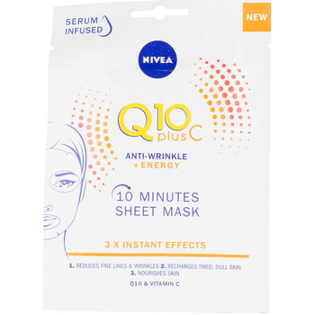 Beauté Femme Masques & gommages Nivea Q10+ Vitamina C Anti-arrugas+énergisante Masque Facial
