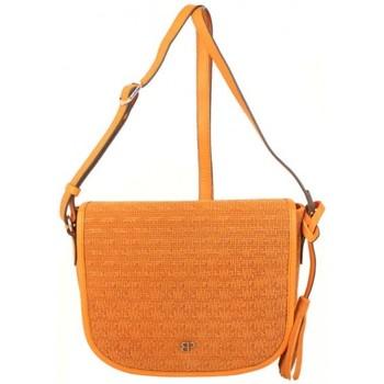 Sacs Femme Sacs Bandoulière Patrick Blanc Sac bandoulière en cuir effet tressé  orange Multicolor