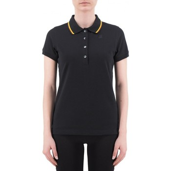 Vêtements Femme Polos manches courtes K-Way Polo stretch Alizee Stripes noir  KWAYK00B9N0 K02 Noir