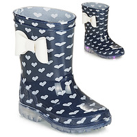 Chaussures Fille Bottes de pluie Be Only AMOUR FLASH Marine