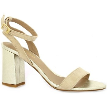 Chaussures Femme Sandales et Nu-pieds So Send Nu pieds cuir velours  nude Nude