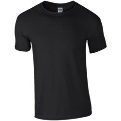 Vêtements Homme T-shirts manches courtes Gildan Soft Style Noir