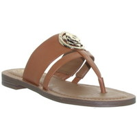 Chaussures Femme Sandales et Nu-pieds Guess Sandales  ref_48339 Cognac marron
