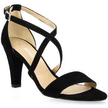 Chaussures Femme Sandales et Nu-pieds So Send Nu pieds cuir velours Noir