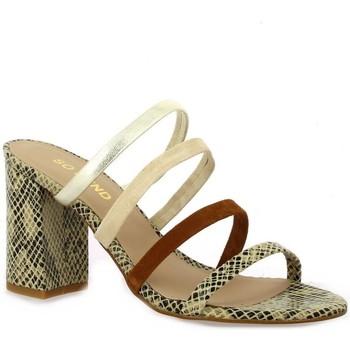Chaussures Femme Sandales et Nu-pieds So Send Nu pieds cuir serpent Beige