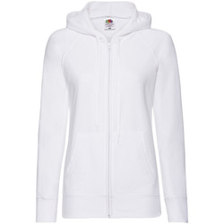Vêtements Femme Sweats Fruit Of The Loom Lightweight Blanc