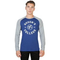 Vêtements Homme T-shirts manches longues Oxford University - queens-raglan-ml Bleu