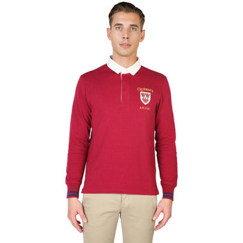 Vêtements Homme Polos manches longues Oxford University - queens-polo-ml Rouge