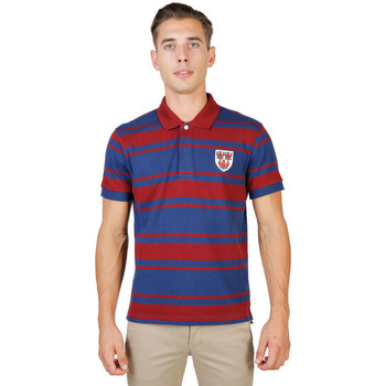Vêtements Homme Polos manches courtes Oxford University - queens-rugby-mm Rouge