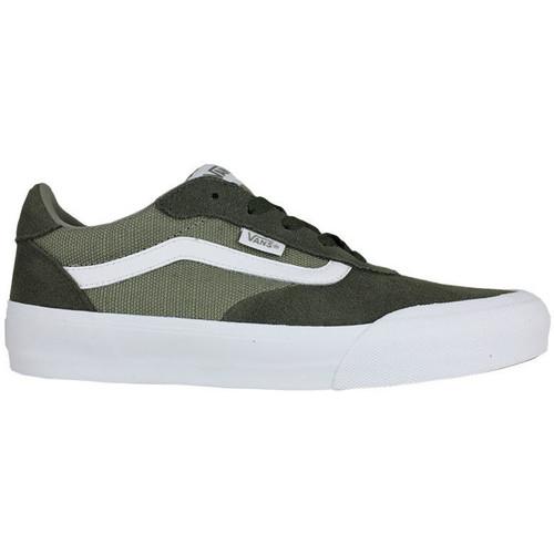 Vans Palomar Suede Canvas Grape Leaf Vert - Chaussures Baskets Basses