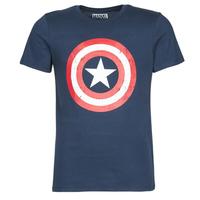 Vêtements Homme T-shirts manches courtes Casual Attitude CAPTAIN AMERICA LOGO Marine