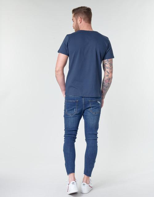 CAPTAIN AMERICA LOGO Casual Attitude t-shirts manches courtes homme marine
