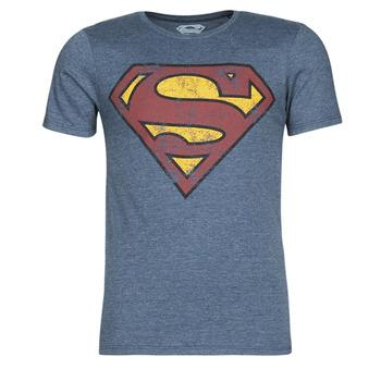 Vêtements Homme T-shirts manches courtes Casual Attitude SUPERMAN LOGO VINTAGE Marine