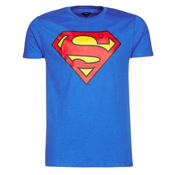 Vêtements Homme T-shirts manches courtes Casual Attitude SUPERMAN LOGO CLASSIC Bleu