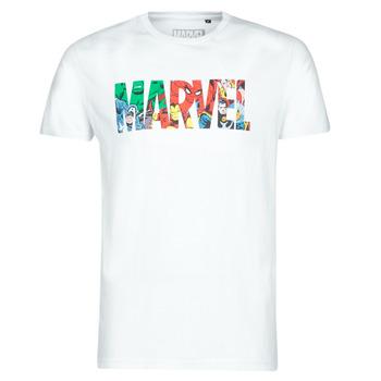 Vêtements Homme T-shirts manches courtes Casual Attitude MARVEL HERO LOGO Blanc