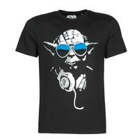 Vêtements Homme T-shirts manches courtes Casual Attitude DJ YODA COOL Noir