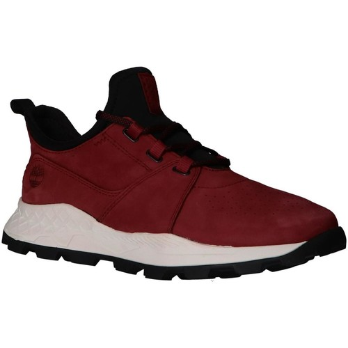 chaussure homme timberland rouge