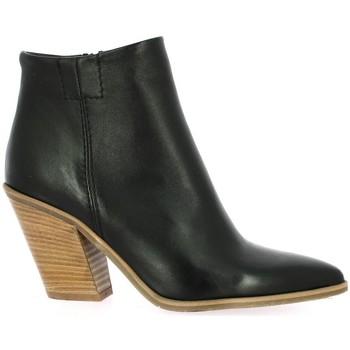 Chaussures Femme Bottines Pao Boots cuir Noir