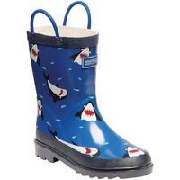 Chaussures Enfant Bottes de pluie Regatta Minnow Bleu marine/blanc