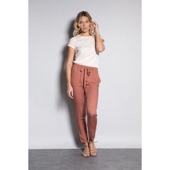 Vêtements Femme Pantalons Deeluxe Pantalon ELIDA Blush