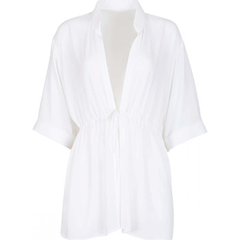 Vêtements Femme Tuniques Lisca Tunique plage manches trois-quarts Navarre Beach Blanc