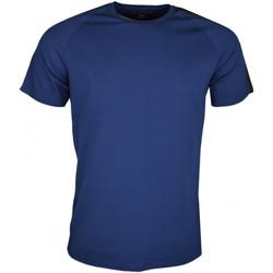 Vêtements Homme T-shirts manches courtes La Martina T-shirt col rond  Maserati bleu marine pour homme Bleu