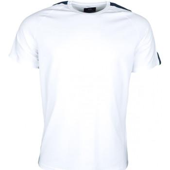 Vêtements Homme T-shirts manches courtes La Martina T-shirt  Maserati blanc et bleu marine pour homme Blanc