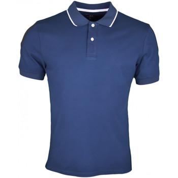 Vêtements Homme Polos manches courtes La Martina Polo  Maserati bleu marine et noir pour homme Bleu