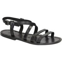Chaussures Femme Sandales et Nu-pieds Gianluca - L'artigiano Del Cuoio 531 D NERO CUOIO nero