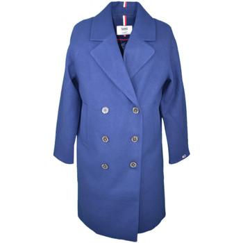 Vêtements Femme Manteaux Tommy Jeans Veste à boutons  bleu marine pour femme Bleu