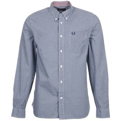 Vêtements Homme Chemises manches longues Fred Perry ISSINA Marine