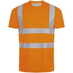 Vêtements Homme T-shirts manches courtes Sols MERCURE PRO VISIBLITY WORK Naranja