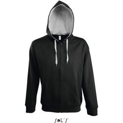 Vêtements Homme Vestes de survêtement Sol's Veste zippé à capuche  Soul noir