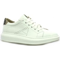 Chaussures Femme Baskets basses So Send Baskets cuir  /python Blanc/python