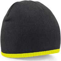 Accessoires textile Bonnets Beechfield B44 Noir/jaune