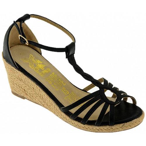 Chaussures Femme Sandales et Nu-pieds Xti 27724TaloncompenséTaloncompenséTaloncompensé Talon compensé Noir