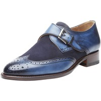 Chaussures Femme Derbies Shoepassion Chaussures à boucle No. 1155 Navy