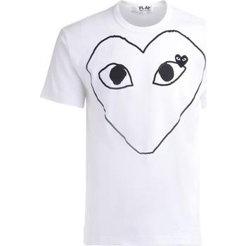 Vêtements Homme T-shirts manches courtes Comme Des Garcons T-Shirt  en coton blanc avec un cœur Blanc