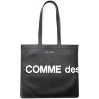 Sacs Femme Sacs porté épaule Comme Des Garcons Shopper  Huge Logo en cuir noir Noir