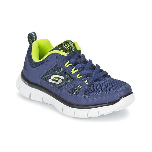 Chaussures Enfant Multisport Skechers FLEX ADVANTAGE Marine / Jaune